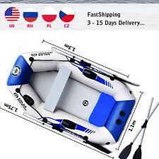 PVC Inflatable Kayak Rafting Fishing Boat Air Deck Wear Resistance 2Person 175cm