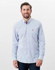 Joules Mens Abbott Long Sleeve Classic Fit Peached Poplin Shirt - Blue Check