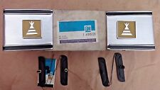 NOS 1973 1980 Chevy Truck CAB CORNER MOULDINGS w/ CAMPER EMBLEMS Original GM kit