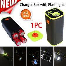 USB Handy Power Ladegerät Bank 4x18650 Akku Box Case Halter für iPhone Samsung