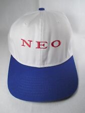 Neo White Blue Adjustable Baseball Golf Cap Hat Great Condition
