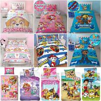PAW PATROL OFFICIAL DUVET COVER SETS BEDROOM BEDDING BOYS GIRLS - SINGLE DOUBLE