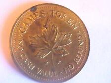 TOKEN Canada Maple Leaf Games No Cash Value No Refund Clown Amusement Token