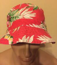 Polo Ralph Lauren Bucket hat large  xlarge Hawaiian Fire Red Multi