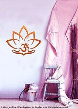 OM Zeichen Lotus onFire Wandtattoo Wandaufkleber für Yogastudio