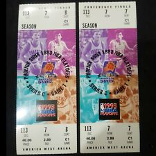1993 NBA WESTERN CONFERENCE FINALS PHOENIX SUNS (2) FULL UNUSED GAME 1 TICKETS