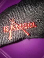 NWT Kangol Championship Flex fit Black Red Hat Newsboy Cabbie Small Medium