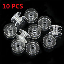 10pcs Clear Bobbin Sewing Machine Plastic Spools For Thread Brother Singer