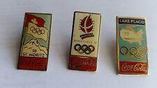 Pin's Coca-Cola,Jeux Olympiques d'Hiver, ALBERTVILLE 92 ST MORITZ 28 LAKE PLACID