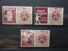 timbres belges : publicité 1927 1932 COB n° PU 25, 27, 30   NEUF *
