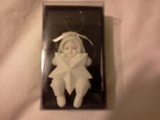 Snowbabies Dept. 56 Bisque Ornament Swinging on A Star Christmas Ornament in Box