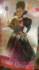 Size 2 - 4 Spider Queen Halloween Costume Vampire Toddler Girl Fancy Dress