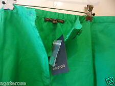 Marco Polo More Green Cotton Shorts Elastic Waist Plus Size 24