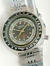 "Seiko 5 Sports 7015-7010 Speed Timer ""Sliderule/Flyback""- Watch- men's - 1970's"