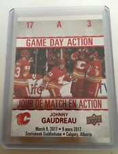 2017/18 UD Tim Hortons Johnny Gaudreau #3 Game Day Action! FLAMES
