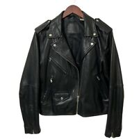 Levi's Relaxed Leather Moto Ladies Biker Jacket Levis Black Size M UK 10 rrp£300