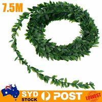7.5M Artificial Ivy Garland Foliage Green Leaves Vine Wedding Party DIY Decor
