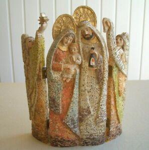 Christmas Nativity Scene Religious 3 Section Folding Icon