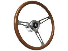 1969 - 1989 Cadillac S6 Classic Wood Steering Wheel Chrome Kit | Telescopic Hub