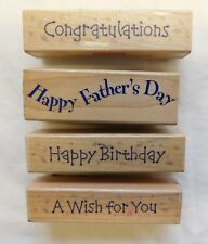 CONGRATULATIONS-HAPPY FATHERS DAY-HAPPY BIRTHDAY-A WISH FOR YOU Rubber Stamps