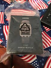 Pebble Time Steel Smart Watch With Stainless Steel Band