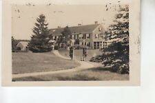 Real Photo Postcard Closeup of Path to Entrance  of Rest House Swansea MA