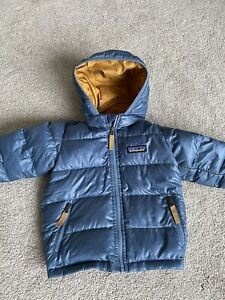 Patagonia Down Jacket Coat Blue 6-12 Months