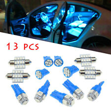 13x LED Pure Blue Lights Interior Package Kit For Dome License Plate Lamps Bulbs