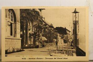 Italy Gardone Riviera Terrazza Del Grand Motel Postcard Old Vintage Card View PC