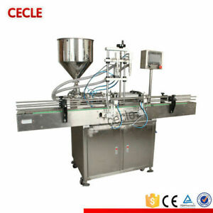 Double Head Automatic Paste sanitizergel Filling Machine 5-5000ml By sea