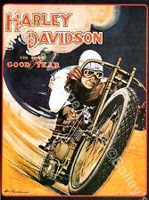 Harley Davidson Vintage ART PRINT - FREE UK P&P
