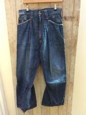 Cotton Distressed Loose 32L Jeans for Men