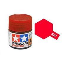 Tamiya Colore acrilico ROSSO TRASPARENTE plastica metallo TAMIYA X-27 10ml