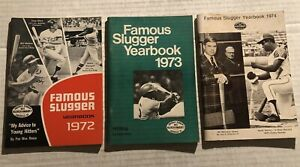 1972 1973 1974 Famous Slugger Lot of 3 OLIVA Stargell AARON Rose BENCH Clemente