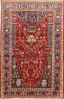 One-of-a-kind Vegetable Dye Tribal Kashkoli Oriental Hand-Knotted 5'x8' Area Rug