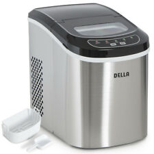 Portable Ice Cube Maker Countertop 26 lb/day Ice Cube Machine, Stainless Steel