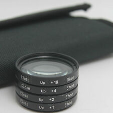 37mm Digital +1 +2 +4 +10 magnification Close-Up Macro Filter Lens & carry case
