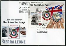 Sierra Leone 2020 125th Anniversary Of The Salvation Army S/Sht First Day Cover