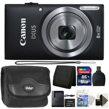 Canon IXUS 185 / ELPH 180 Optical Zoom Black Digital Camera with Accessory Kit