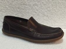 5fc7041feb TIMBERLAND A13JL BROWN LEATHER SLIP ON LOAFERS MOCS SHOES MENS SZ 9.5 M