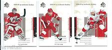 2004/05 SP Authentic Hockey - set of 3 Red Wings - Legace - Shanahan - Yzerman