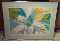 Vintage Mid Century Modern Joan Paley Signed Lithograph Fine Art Print abstract
