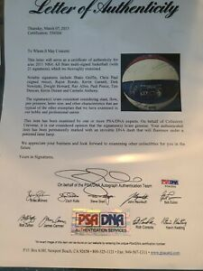 2011 Basketball All Star Game 21 Signed Players Psa/Dna