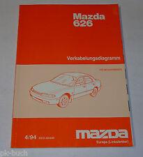Werkstatthandbuch Mazda 626 MS6 GE Elektrik / Schaltpläne, St. 04/1994