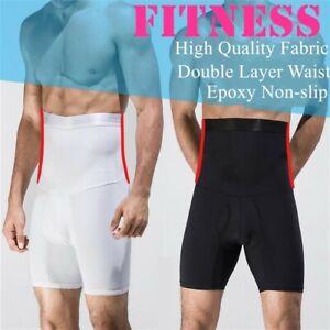Men's High Waist Tummy Control Shorts Underwear Body Shaper Girdle Boxer Pants
