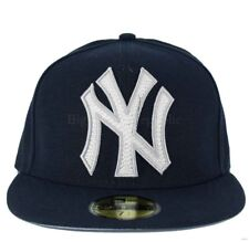 New Era MLB 59Fifty Mighty Stitch NY new York Yankees Fitted Baseball Cap