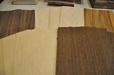 "5 diff. kind wood veneer 5"" x 8"" sheets 60 total sheets (12ea)      IC45"