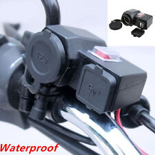 12V Motorcycle GPS Cigarette Lighter Dual USB Chargers Power Adapter Waterproof
