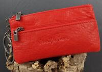 100 % cuero cartera para llaves-bolso -llavero cadena monedero piel de vaca