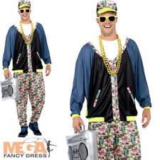 80's Hip Hop Mens Fancy Dress Music Celebrity Rapper Dance Adults Costume Outfit